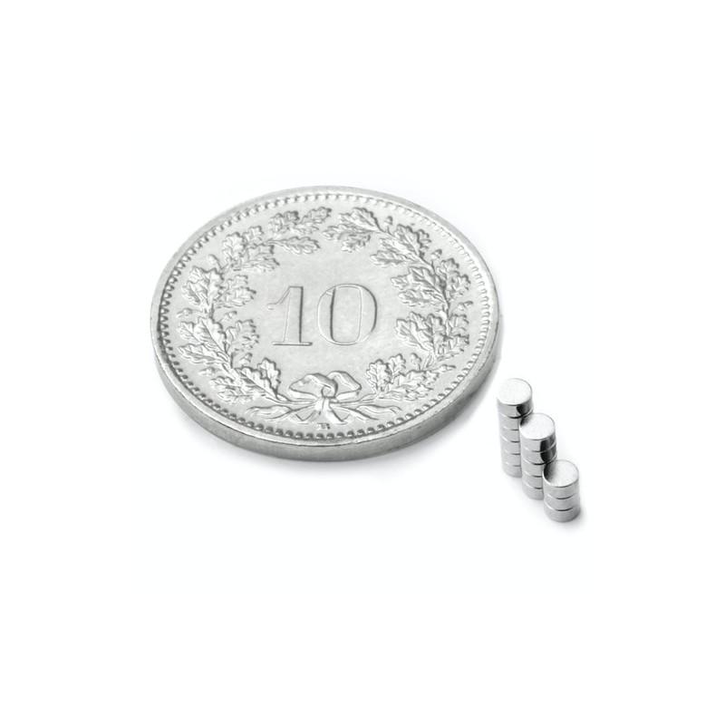 mighty-games-Neodym magnetic disk - Ø 2 mm, height 1 mm