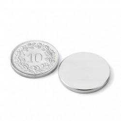 mighty-games-Disque magnétique Néodyme Ø 20 mm, hauteur 2 mm