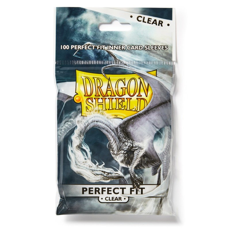 mighty-games-Dragon Shield Standard Perfect Fit Sleeves - Clear (100 sleeves)