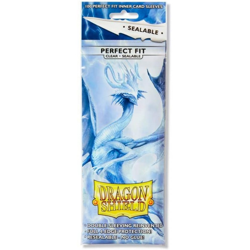 mighty-games-Dragon Shield Standard Perfect Fit Sealable Sleeves - Clear (100 Sleeves)